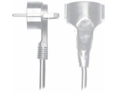 SV55-10W, 10 Meter, Schutzkontakt-Flachstecker - Verlängerungskabel mit Winkelstecker