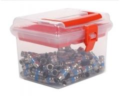 ANK FV-100 (100 Stück) F-Verbinder, Buchse auf Buchse in Aufbewahrungsbox