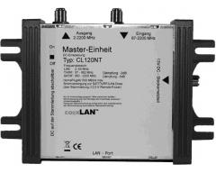 CL120NT, co@xLAN BK/ CATV/ UNICABLE LAN Einspeiseweiche bis 500MBit mit RJ45 Buchse