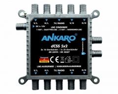 ANKARO ANK dCSS 5x2 Multischalter (2x16 UB Standardprogrammierung dCSS)