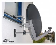 Easy-Mount, Befestigungssystem für Satellitenantennen, ALU