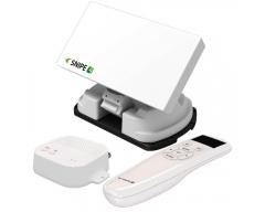 Selfsat SNIPE 4 SINGLE, Vollautomatische GPS-Flachantenne mit BT V4.2 Fernbedienung und Einstellung / Steuerung / Softwareupdate