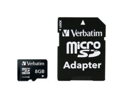 Verbatim - Flash-Speicherkarte - 8 GB - microSDHC - Class 10