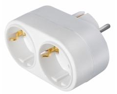 SV1SW, Mehrfachadapter, 2x Schuko, weiß (nur für Export)