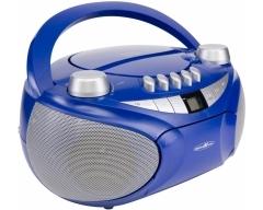 RCR4655 blau, Boombox mit CD, MP3, Kassette, USB, SD, AUX-In