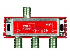 TER3, 3-fach BK Verteiler, 5-1000 MHz, Classe A, F-Anschluss, Schirmungsmaß: > 100 dB