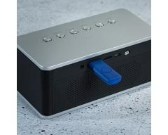 S2G WAKE UP schwarz, Stereo-Bluetooth-Lautsprecher, FM-Radio, Display, Uhr, Alarm